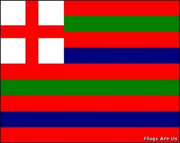 Striped Ensign Red, Green & Blue